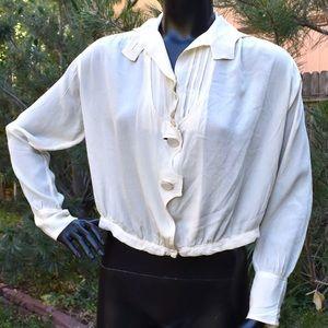 Vintage Victorian/Edwardian Ivory Silk Blouse